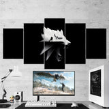 The Witcher 28 - 5 Piece Canvas Wall Art Gaming Canvas