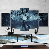 The Witcher 29 - 5 Piece Canvas Wall Art Gaming Canvas