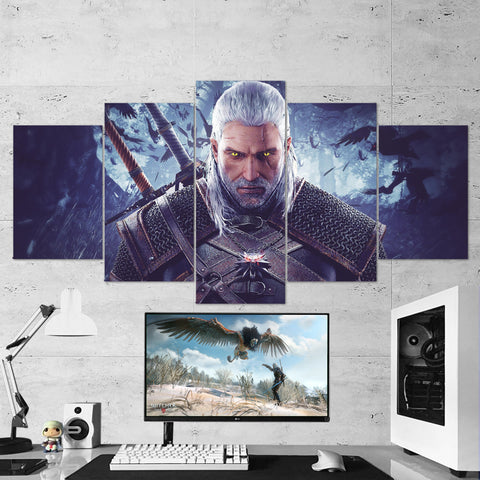 The Witcher 31 - 5 Piece Canvas Wall Art Gaming Canvas