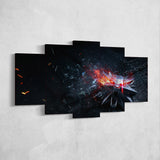 The Witcher 39 - 5 Piece Canvas Wall Art Gaming Canvas