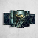 The Witcher 40 - 5 Piece Canvas Wall Art Gaming Canvas