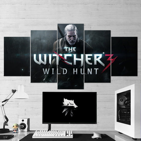 The Witcher 42 - 5 Piece Canvas Wall Art Gaming Canvas