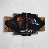 The Witcher 43 - 5 Piece Canvas Wall Art Gaming Canvas