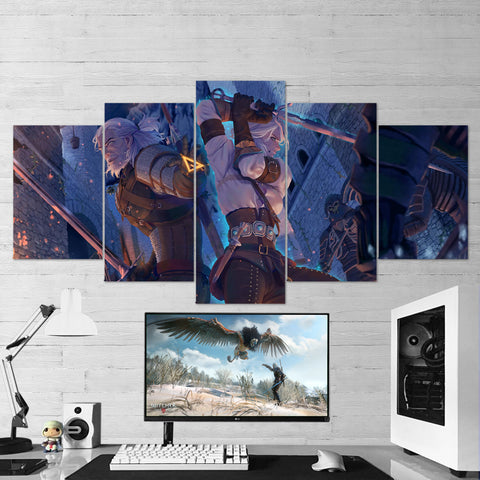 The Witcher 45 - 5 Piece Canvas Wall Art Gaming Canvas