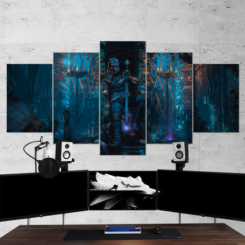 The Witcher 46 - 5 Piece Canvas Wall Art Gaming Canvas
