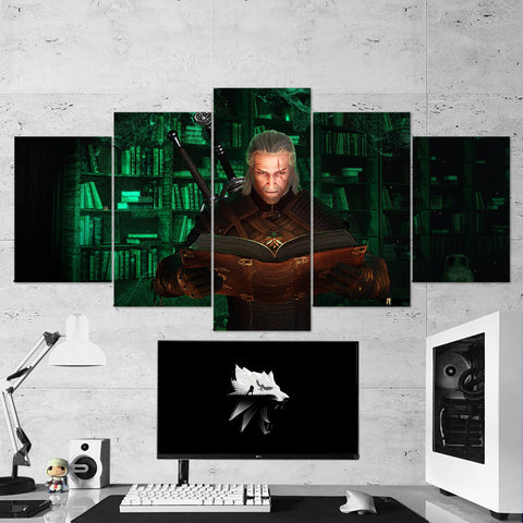 The Witcher 47 - 5 Piece Canvas Wall Art Gaming Canvas