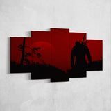 The Witcher 48 - 5 Piece Canvas Wall Art Gaming Canvas