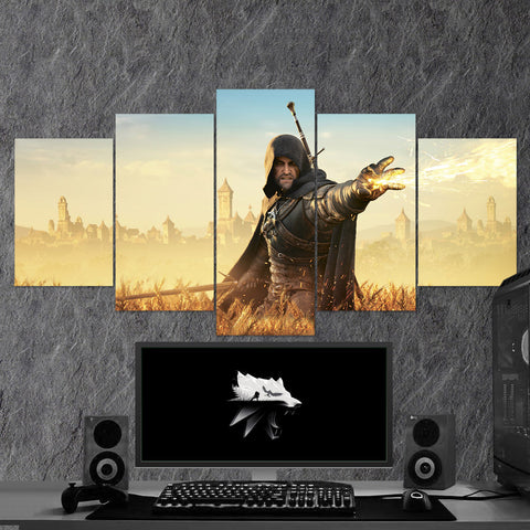 The Witcher 49 - 5 Piece Canvas Wall Art Gaming Canvas