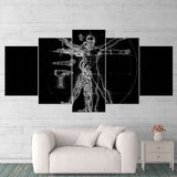 Titanfall 01 Vitruvian Man Robot 5 Piece Canvas Wall Art Gaming Canvas