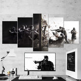 Tom Clancy's 01 Rainbow Six Siege Shooter 5 Piece Canvas Wall Art Gaming Canvas