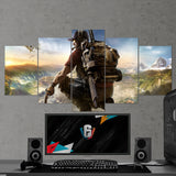 Tom Clancy's  03 Ghost Recon Wildlands 5 Piece Canvas Wall Art Gaming Canvas
