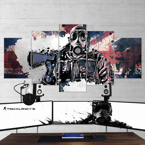 Tom Clancy's 05 Rainbow Six Siege 5 Piece Canvas Wall Art Gaming Canvas