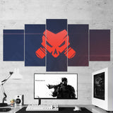 Tom Clancy's 06 Rainbow Six Siege Operation Chimera Logo 5 Piece Canvas Wall Art Gaming Canvas