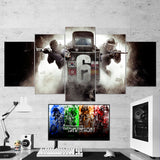 Tom Clancy's Rainbow Six Siege Shooter 13 - 5 Piece Canvas Wall Art Gaming Canvas