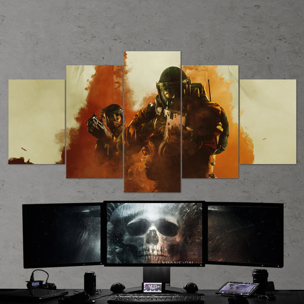 Tom Clancy's Rainbow Six Siege Finka And Lion Operation Chimera 18 - 5 Piece Canvas Wall Art Gaming Canvas