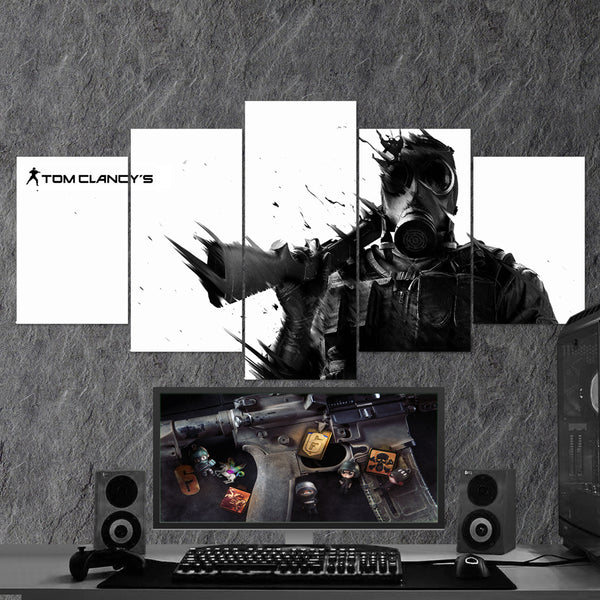 Tom Clancy's Rainbow Six Siege 28 - 5 Piece Canvas Wall Art Gaming Canvas