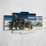 Tom Clancy's Ghost Recon Wildlands 30 - 5 Piece Canvas Wall Art Gaming Canvas