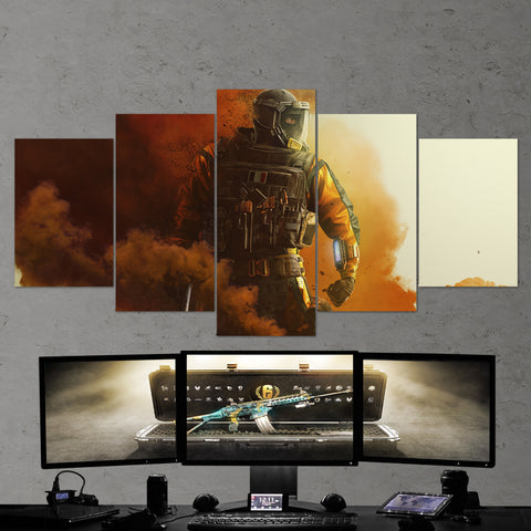 Tom Clancy's 32 Lion Rainbow 6 Siege Operation Chimera 5 Piece Canvas Wall Art Gaming Canvas