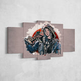 Tom Clancy's 36 Rainbow Six Siege Hibana 5 Piece Canvas Wall Art Gaming Canvas