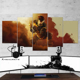 Tom Clancy's 37 Rainbow Six Siege Operation Chimera 5 Piece Canvas Wall Art Gaming Canvas