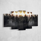 Tom Clancy's 39 Rainbow Six Siege Operators 5 Piece Canvas Wall Art Gaming Canvas