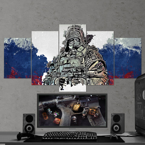 Tom Clancy's 41 Rainbow Six Siege Kapkan 5 Piece Canvas Wall Art Gaming Canvas