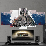Tom Clancy's 42 Rainbow Six Siege Glaz 5 Piece Canvas Wall Art Gaming Canvas