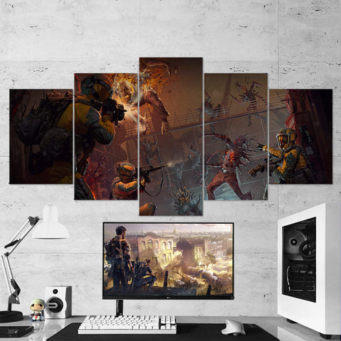 Tom Clancy's 43 Rainbow Six Siege Operation Chimera Outbreak 5 Piece Canvas Wall Art Gaming Canvas