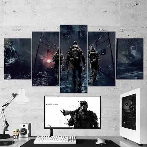 Tom Clancy's 50 The Division 5 Piece Canvas Wall Art Gaming Canvas