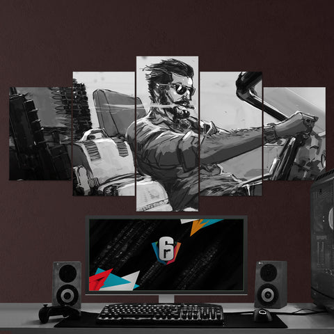 Tom Clancy's 51 Rainbow Six Siege Meastro 5 Piece Canvas Wall Art Gaming Canvas