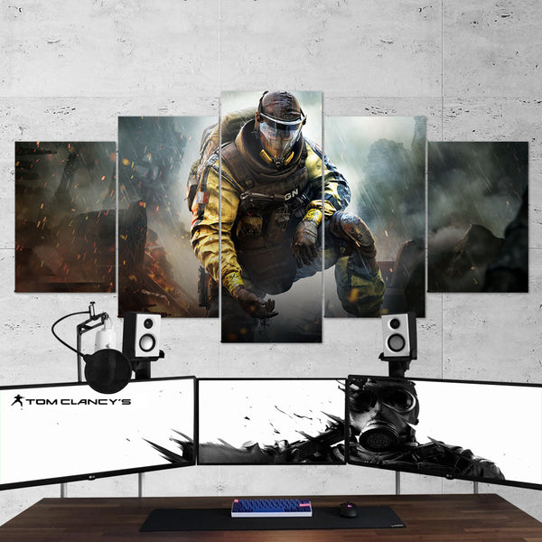 Tom Clancy's 52 Rainbow Six Siege Lion 5 Piece Canvas Wall Art Gaming Canvas