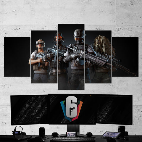 Tom Clancy's 54 Ghost Recon Wildlands Ghost War 5 Piece Canvas Wall Art Gaming Canvas