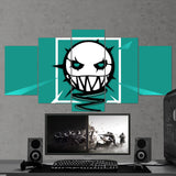 Tom Clancy's 62 Six Siege Minimalist Logo 5 Piece Canvas Wall Art Gaming Room Canvas