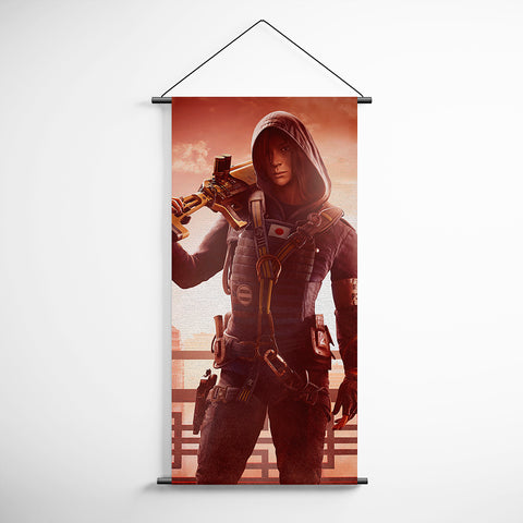 Tom Clancy's 77 Rainbow Six Siege Operator Hibana Decorative Banner Flag for Gamers