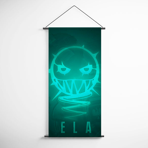 Tom Clancy's 78 Rainbow Six Siege Ela Minimalism Logo Decorative Banner Flag for Gamers