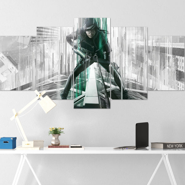 Tom Clancy's Canvas Wall Art 084 - Dokkaebi 5 Piece Canvas Wall Art - The Division Canvas - Ghost Recon Canvas - Rainbow Six Siege Canvas