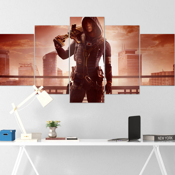 Tom Clancy's Canvas Wall Art 098 - Hibana 5 Piece Canvas Wall Art - The Division Canvas - Ghost Recon Canvas - Rainbow Six Siege Canvas