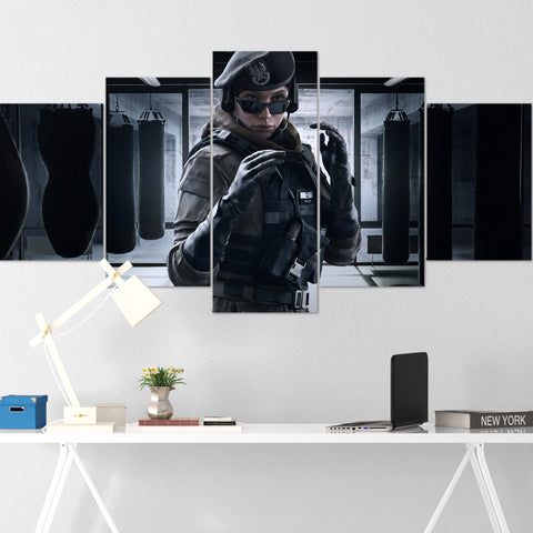 Tom Clancy's Canvas Wall Art 107 - Zofia 5 Piece Canvas Wall Art - The Division Canvas - Ghost Recon Canvas - Rainbow Six Siege Canvas