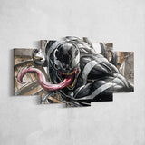 Venom 04 - 5 Piece Canvas Wall Art Gaming Room Canvas