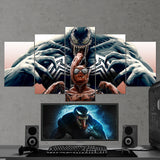 Venom vs Spiderman Canvas - 5 Piece Canvas Wall Art