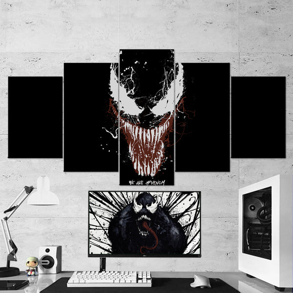 Venom 11 We Are Venom 5 Piece Canvas Wall Art Gaming Room Canvas