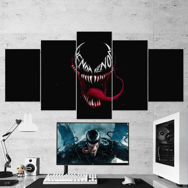 Venom 15 - 5 Piece Canvas Wall Art Gaming Room Canvas