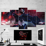 Venom 19 - 5 Piece Canvas Wall Art Gaming Room Canvas