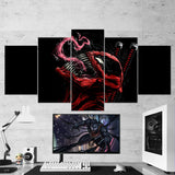 Venom Deadpool - 5 Piece Canvas Wall Art Gaming Room Canvas