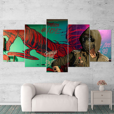 Watch Dogs 2 - 5 Piece Canvas Wall Art Gaming Canvas 5PCWD001