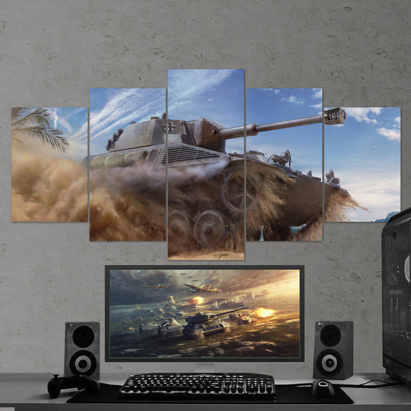 World of Tanks 13 Spahpanzer SP I C 5 Piece Canvas Wall Art Gaming Canvas