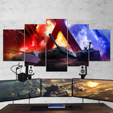 World of Tanks 14 Art Work 5 Piece Canvas Wall Art Gaming Canvas