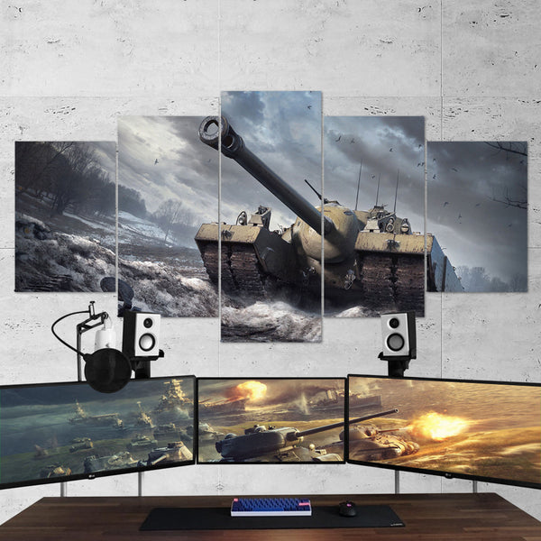 World of Tanks 19 T95 5 Piece Canvas Wall Art Gaming Canvas