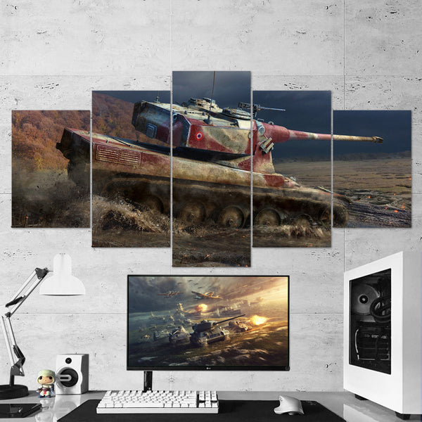 World of Tanks 20 MX50B 5 Piece Canvas Wall Art Gaming Canvas