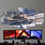 World of Tanks 21 TVP T50-51 - 5 Piece Canvas Wall Art Gaming Canvas